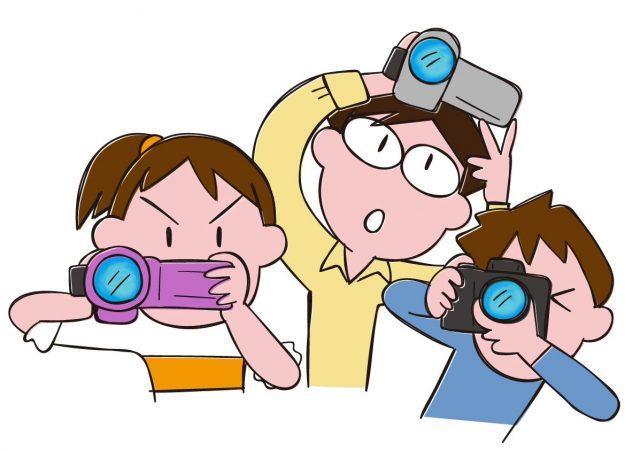 カメラ、ビデオ撮影