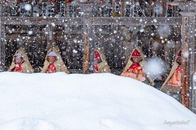 野沢温泉 雪景色