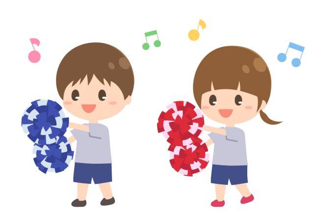 運動会の園児ダンス