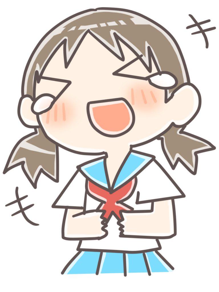 爆笑する女子学生