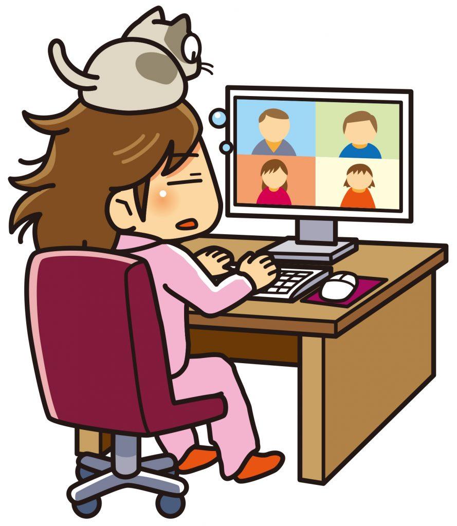猫とオンラインミーティング