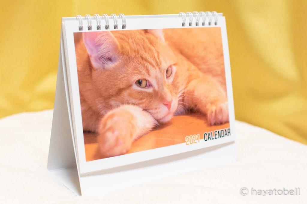 猫のカレンダー2021年版(卓上)